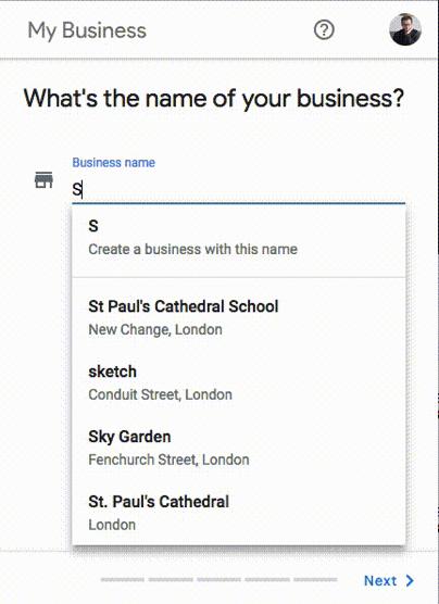 google service area